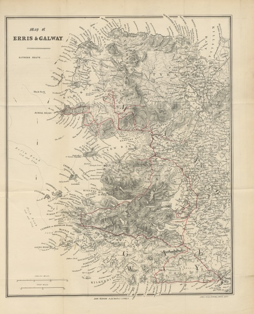 "map from ""The Saxon in Ireland: or, the rambles of an Englishman in search of a settlement in the West of Ireland. [By John Henry Ashworth.]"""