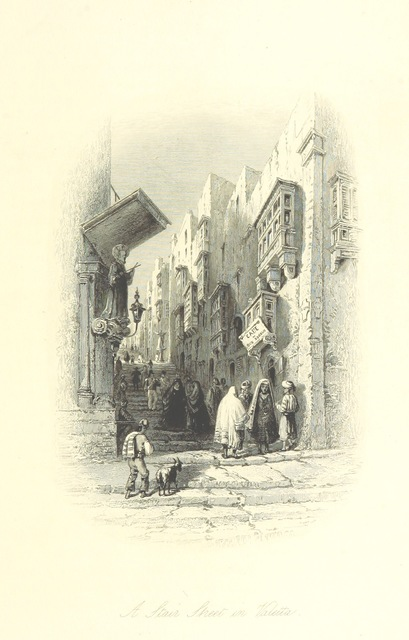 "Valetta from ""Gleanings, pictorial and antiquarian on the Overland route. By the author of ""Forty days in the Desert"" [W. H. Bartlett]"""
