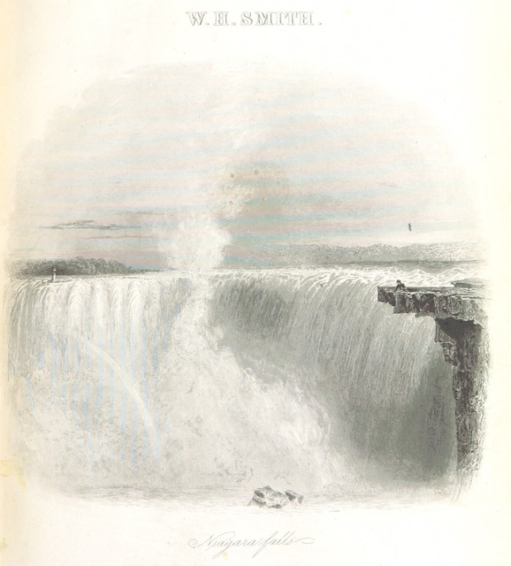 """waterfall from """"Canada: past, present and future. Being a historical, geographical, geological and statistical account of Canada West"""""""