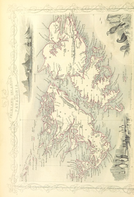 """Falkland Islands from """"[The Voyages of Captain James Cook. Illustrated ... With an appendix, giving an account of the present condition of the South Sea Islands, &c.]"""""""