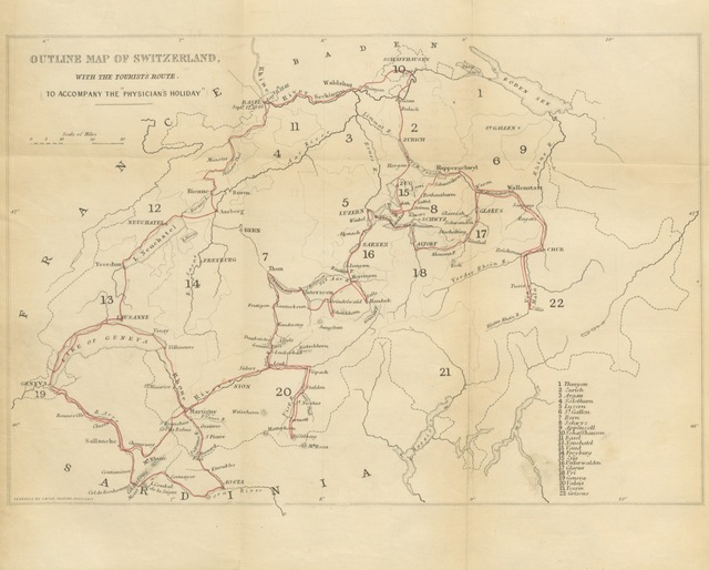 "map from ""[A Physician's Holiday; or, a month in Switzerland in the summer of 1848.]"""