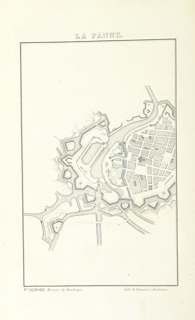 """map from """"Histoire de Dunkerque. [With plates, including maps and facsimiles.]"""""""