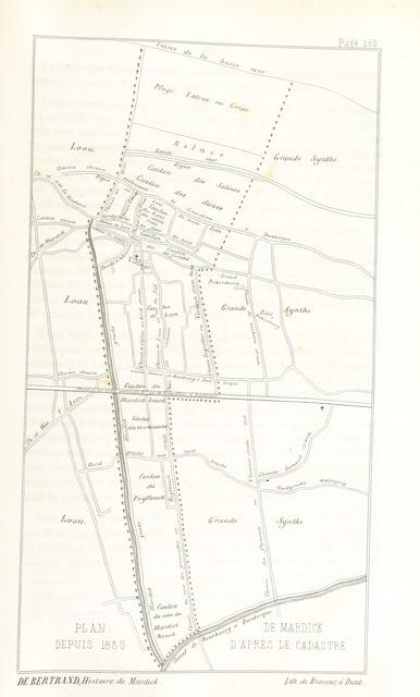 """map from """"Histoire de Mardick et de la Flandre maritime"""""""