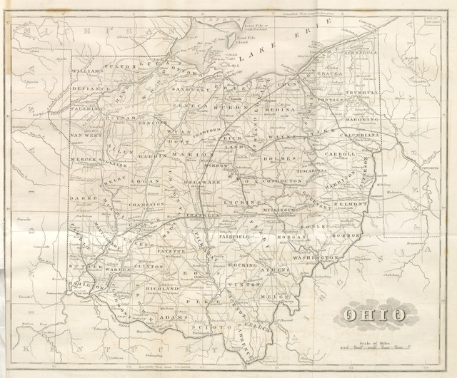 "map from ""Historical Collections of Ohio; containing a collection of the most interesting facts, traditions, biographical sketches, anecdotes, etc. relating to its general and local history: with descriptions of its counties, principal towns and villages, etc"""