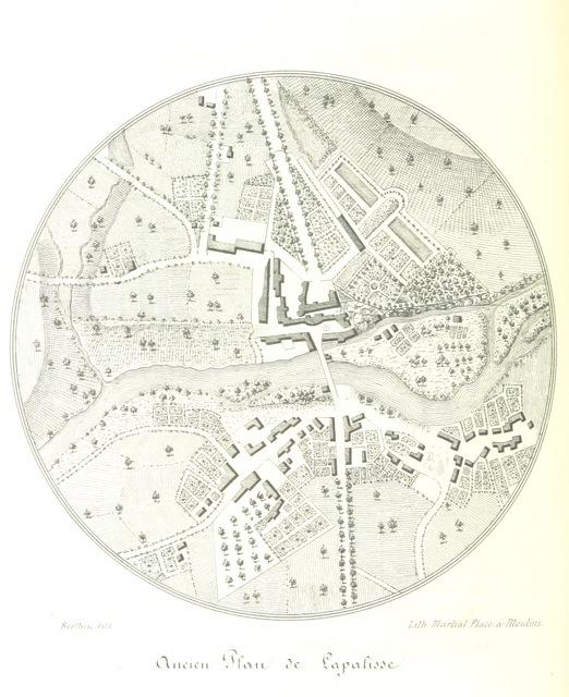 """map from """"L'Allier Pittoresque, histoire, géographie, statistique et biographie du département de l'Allier. Dessins"""""""