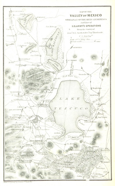 """map from """"Mexico, Aztec, Spanish and Republican: or historical, geographical, political, statistical and social account of that country from the period of the invasion to the present time: with a view of the ancient Aztec Empire ... a historical sketch of the late war; and notices of New Mexico and California"""""""