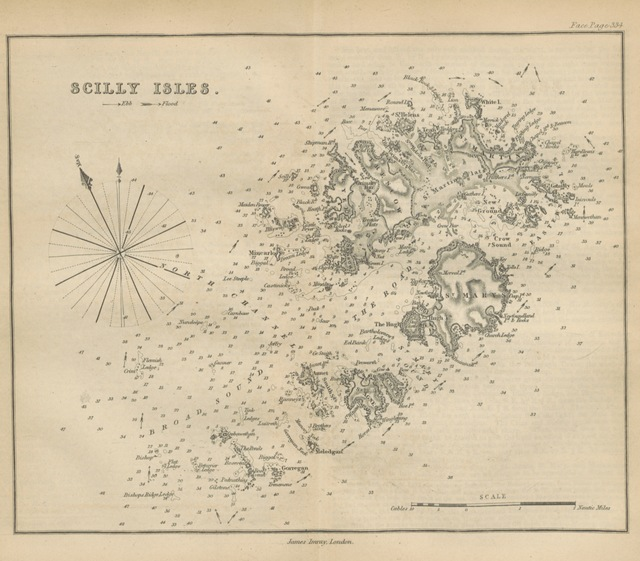 """map from """"The British and Foreign Coaster's Guide; containing complete sailing directions for the east coasts of England and Scotland, the Orkney and Shetland Islands, the coasts of France, Holland, and Jutland to the Scaw Point; those of Norway and the White Sea, and the Cattegat, Baltic and Gulf of Finland, the English and St. George's Channels, and the whole coast round Ireland, etc. (Sailing directions for the Bristol and St. George's Channels .. Sixth edition.)"""""""