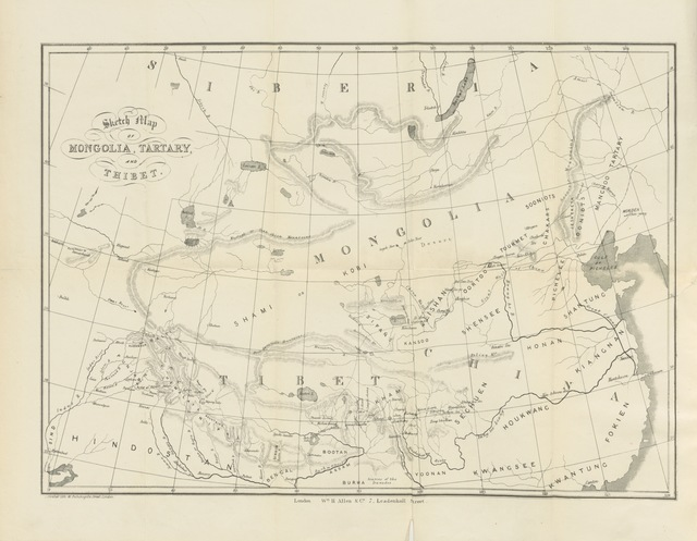 """map from """"[Tibet, Tartary, and Mongolia, their social and political condition, and the religion of Boodh as there existing, etc.]"""""""