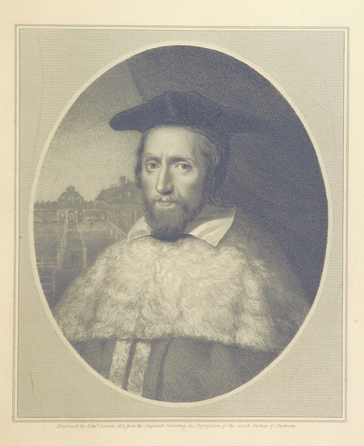 """portrait from """"A brief historical account of the Episcopal Castle, or Palace of Auckland"""""""