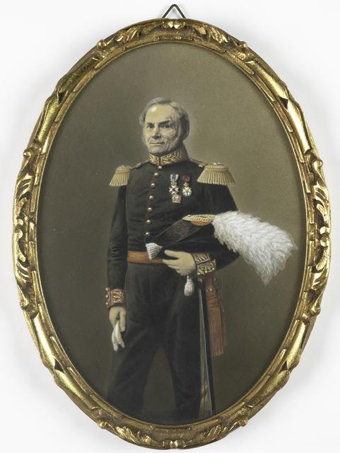Portret van de gouverneur generaal van Suriname, Reinier Frederik Baron van Raders