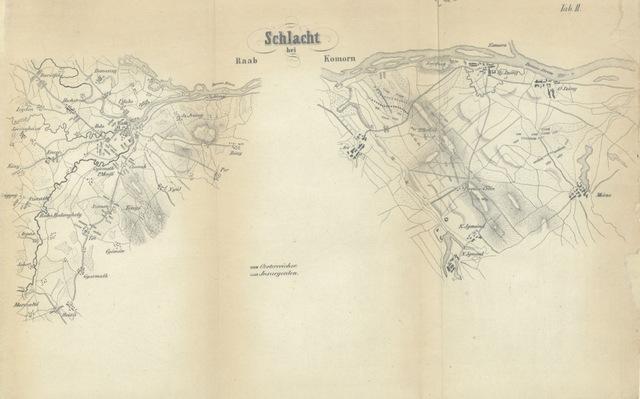 """map from """"Der Italienische und Ungarische Krieg 1848-1849. Im Auszuge aus den besten Werken, etc"""""""