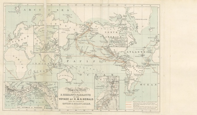 """map from """"Narrative of the Voyage of H.M.S. Herald during the years 1845-51, under the command of Captain H. Kellett ... being a circumnavigation of the globe, and three cruises to the Arctic Regions in search of Sir J. Franklin"""""""