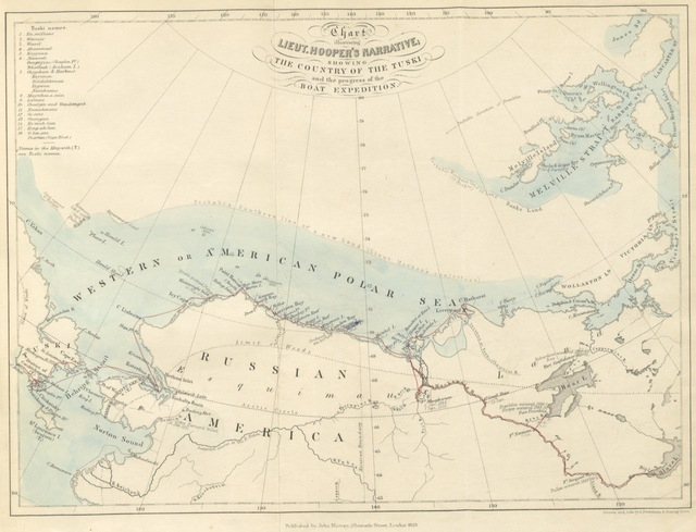 """map from """"Ten months among the tents of the Tuski, with incidents of an Arctic Boat Expedition in search of Sir John Franklin, as far as the Mackenzie River and Cape Bathurst ... With a map and illustrations"""""""