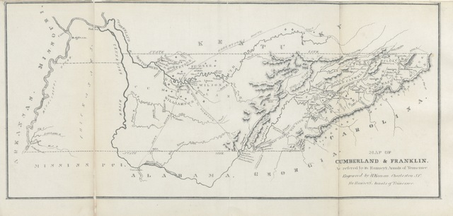 "map from ""The Annals of Tennessee to the end of the eighteenth century, etc"""