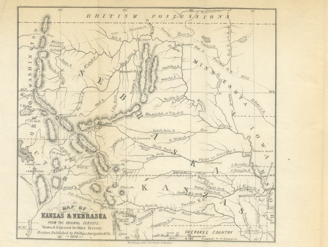 """Kansas from """"Kanzas and Nebraska; the history, geographical and physical characteristics, and political position of those territories, etc"""""""
