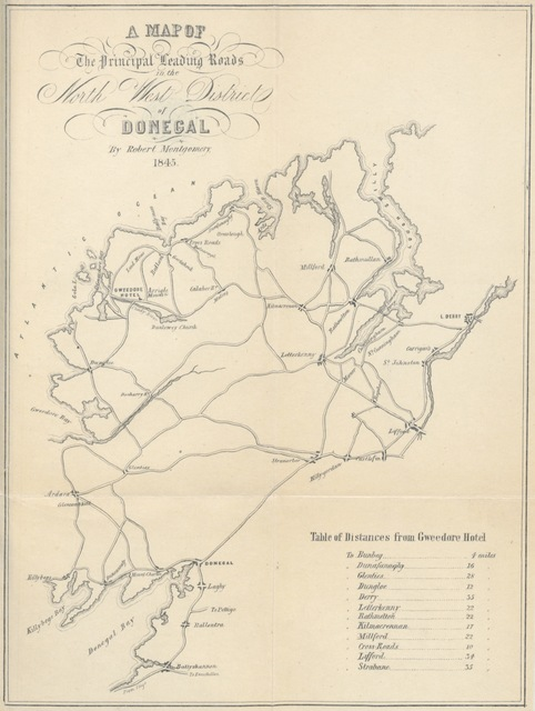 "map from ""[Facts from Gweedore; with useful hints to Donegal Tourists. Compiled from notes by Lord G. H.]"""