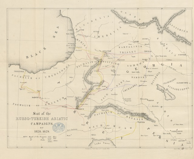 """map from """"[The Russo-Turkish Campaigns of 1828 and 1829: with a view of the present state of affairs in the East ... With maps.]"""""""