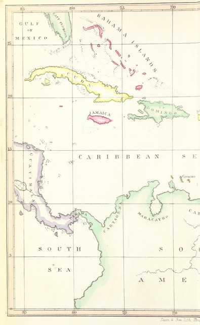 """map from """"The West Indies, before and since Slave Emancipation, comprising the Windward and Leeward Islands' military command; founded on notes and observations collected during a three years residence"""""""