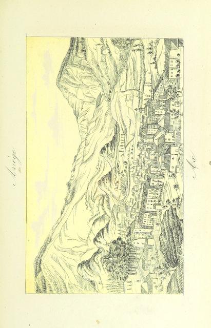 """scanned image from """"Ariège, Andorre et Catalogne. Guide historique, pittoresque et descriptif aux bains d'Ussat et d'Ax ... avec 20 dessins etc"""""""
