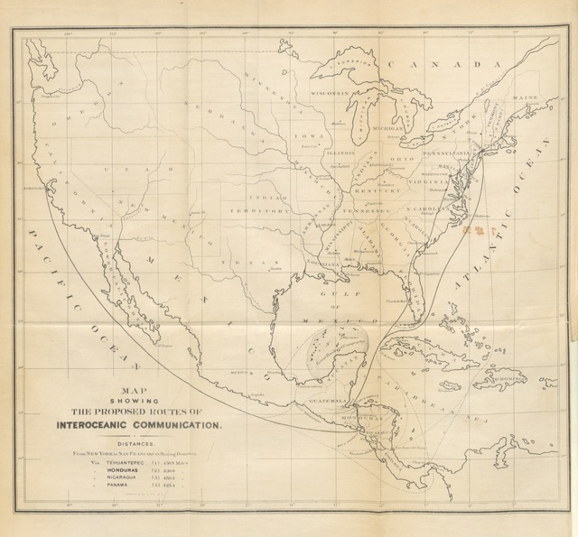 """map from """"Notes on Central America, particularly the States of Honduras and San Salvador ... and the proposed Honduras inter-oceanic railway. With original maps and illustrations"""""""