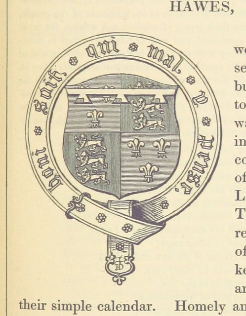 "coat of arms from ""Historical and Topographical Account of Wensleydale ... Illustrated ... Second edition [of ""The Three Days of Wensleydale""]"""