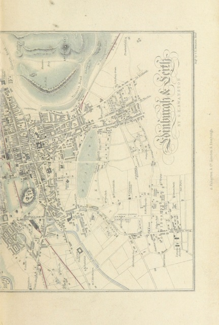 """map from """"A History of Edinburgh from the Earliest Period to the Completion of the Half Century, 1850, with brief notices of eminent or remarkable individuals. [With a map.]"""""""