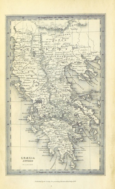 "map from ""A History of Greece, from the earliest times to the Roman conquest, etc. [With a map.]"""