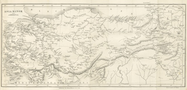 "map from ""A Narrative of the siege of Kars, and of the six months' resistance by the Turkish garrison, under General Williams, to the Russian Army: together with a narrative of travels and adventures in Armenia and Lazistan; with remarks on the present state of Turkey"""