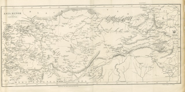 "map from ""[A Narrative of the siege of Kars, and of the six months' resistance by the Turkish garrison, under General Williams, to the Russian Army: together with a narrative of travels and adventures in Armenia and Lazistan; with remarks on the present state of Turkey.]"""