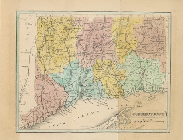 "map from ""[Connecticut Historical Collections, containing a general collection of interesting facts ... relating to the history and antiquities of every town in Connecticut, with geographical descriptions ... Second edition. [With plates.]]"""