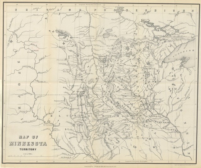 "map from ""[Minnesota, and its Resources. To which are appended Camp-fire sketches, or notes of a trip from St. Paul to Pembina and Selkirk Settlement on the Red River of the North. [With a map.]]"""