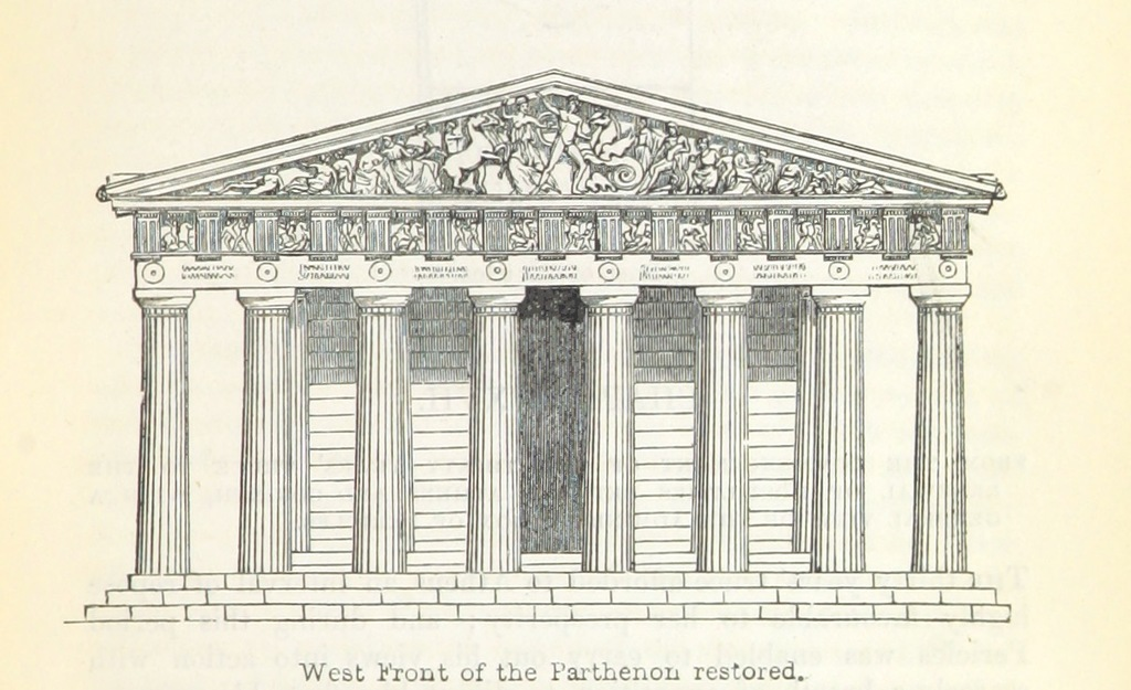 """Parthenon from """"[A History of Greece, from the earliest times to the destruction of Corinth, B.C. 146, mainly based upon that of Connop Thirlwall, etc.]"""""""