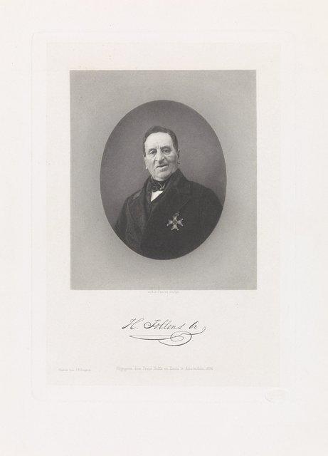Portret van de Rotterdamse dichter en koopman Hendrik Tollens