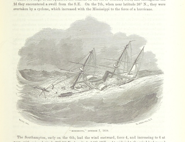 """ship from """"Narrative of the Expedition of an American Squadron to the China Seas and Japan, performed in the years 1852, 1853 and 1854, under the command of Commodore M. C. Perry ... by order of the Government of the United States. Compiled from the original notes and journals of Commodore Perry and his officers ... by F. L. Hawks, etc. [With plates, including maps.]"""""""