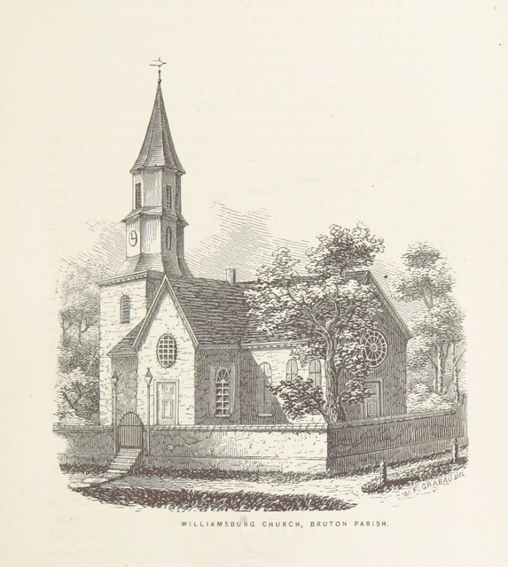 "Bruton Parish Church from ""Old Churches, Ministers and Families of Virginia"""