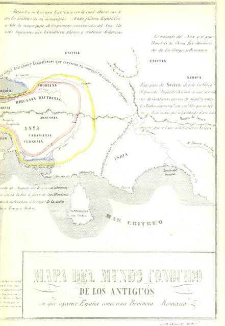 """map from """"Cartografia Hispano-cientifica, ó seo los Mapas Españoles en que se representa á España bajo todas sus diferentes fases. Segunda edicion"""""""
