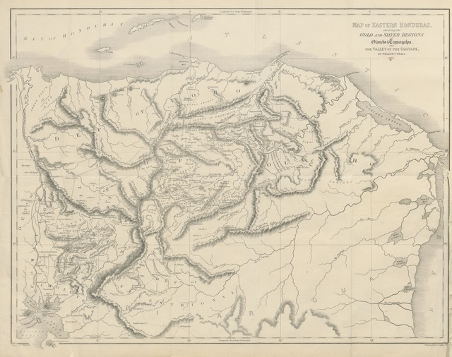 """map from """"Explorations and adventures in Honduras, comprising sketches of travel in the gold regions of Olancho, and a review of the history ... of Central America. With ... maps, etc"""""""