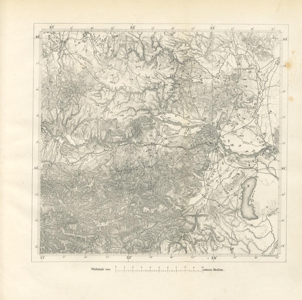 """map from """"Grundzüge der mathematischen Geographie und der Landkartenprojection ... Ein Handbuch für Jeden, der ohne Vorkenntniss der höheren Mathematik sich über den Gegenstand unterrichten will, etc"""""""