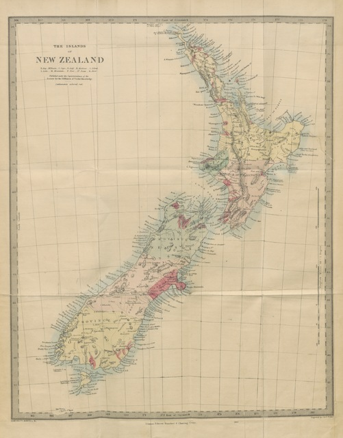 """map from """"New Zealand; or Zealandia, the Britain of the South"""""""