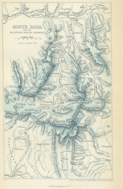 "map from ""Summer months among the Alps; with the ascent of Monte Rosa"""