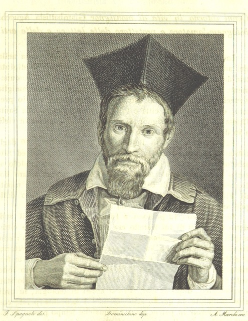 "portrait from ""Archivio di rimembranze felsinee antiche e moderne, desunte e compilate sopra autentici ed originali documenti. (Archivio patrio di antiche e moderne rimembranze felsinee.) [With miscellaneous contributions to the history of Bologna. With illustrations.]"""