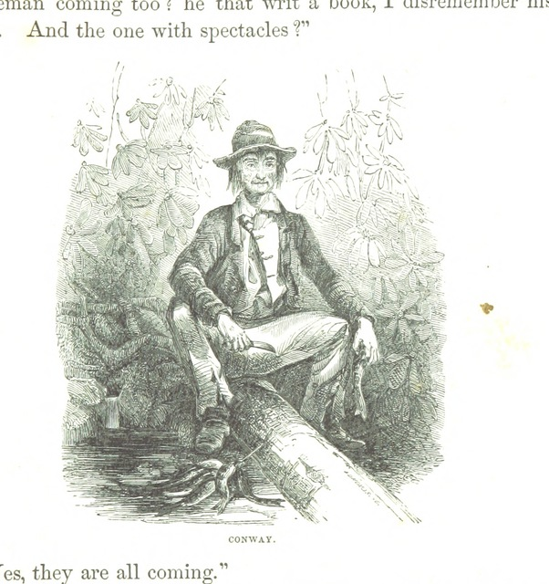 """portrait from """"Virginia Illustrated: containing A Visit to the Virginian Canaan, and The Adventures of Porte Crayon and his Cousins. Illustrated from drawings by Porte Crayon"""""""
