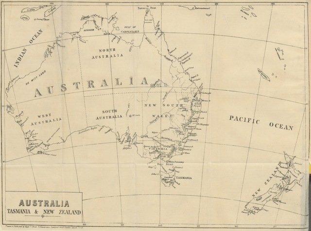 """map from """"A Hand-Book to the Province of Nelson: New Zealand. By the Editor of the """"Australian and New Zealand Gazette."""""""""""