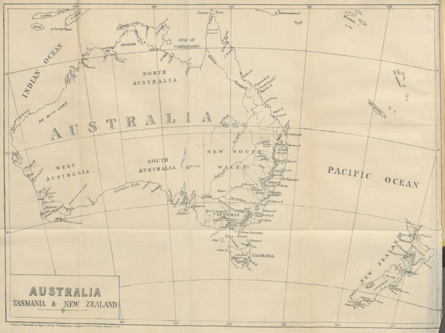 """map from """"A Hand-Book to the province of Wellington ... By the editor of the """"Australian and New Zealand Gazette"""""""""""