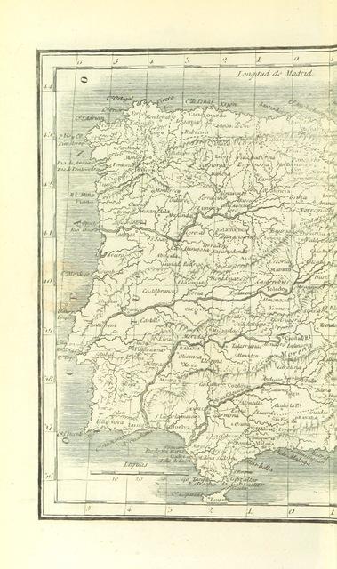 """map from """"España Geográfica, estadistica y administrativa, compendio con arreglo a los datos modernos"""""""