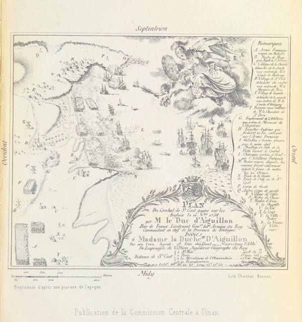 "map from ""Notice sur le combat de St. Cast (11 Septembre 1758), etc. [With plate and two plans.]"""