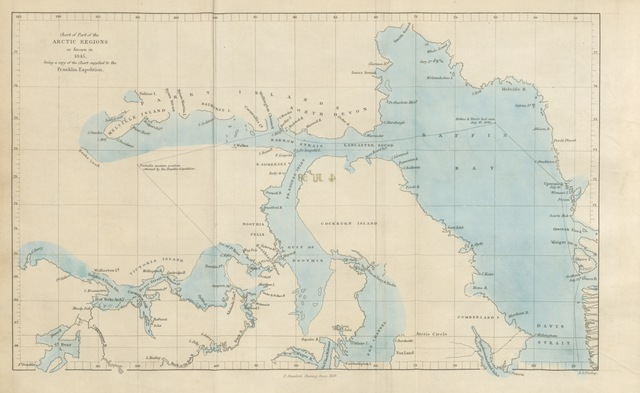 """map from """"The North-West Passage, and the Plans for the Search for Sir John Franklin. A review. [With maps.]"""""""