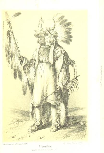 """Native American from """"X. J. Levelei Éjszakamerikából. Tizenkét ... kő- es egynchány fametszettel közli Prépost I"""""""