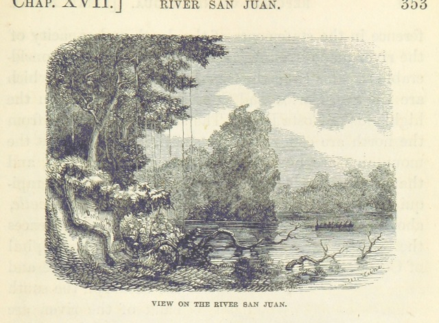 """San Juan River from """"The States of Central America; their geography, topography, climate ..., comprising chapters on Honduras, San Salvador, Nicaragua ... and the Honduras Inter-Oceanic Railway. With ... maps and illustrations"""""""