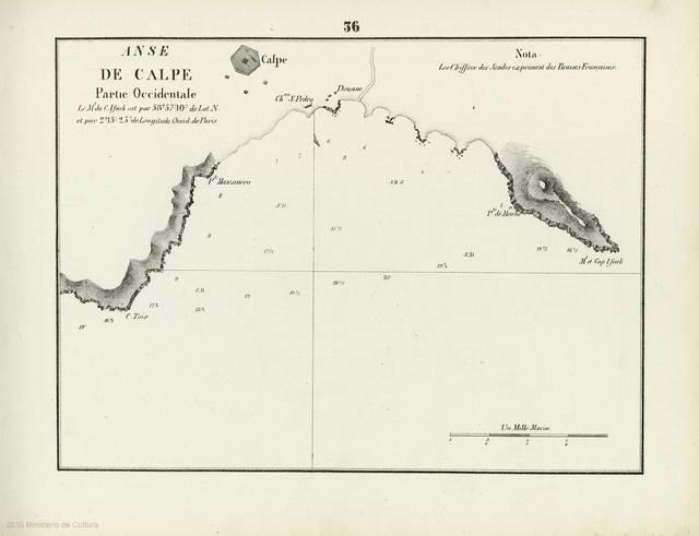 Anse de Calpe : [carte nautique] : Partie Occidentale